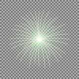 Vector festive firework, burst, green color. Vector festive firework bursting on transparent background, light effect, green color Royalty Free Stock Photography