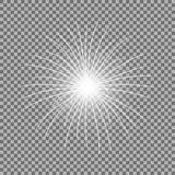 Vector festive firework, burst, white color. Vector festive firework bursting on transparent background, light effect, white color Stock Images
