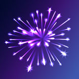 Vector festive firework. Vector realistic holiday festive firework. Abstract background illustration Royalty Free Stock Photo