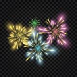 Vector festive fireworks Stock Photo