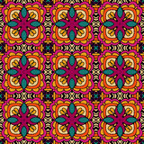 Vector festive floral seamless pattern. Abstract Gypsy vintage ethnic seamless pattern ornamental . tiled floral doodle design Royalty Free Stock Photos