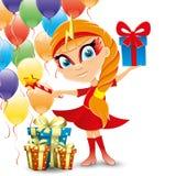 Vector festive illustration. Fairy. Stock Photography