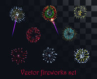 Vector festive patterned firework  on the alpha style background. S Royalty Free Stock Photography