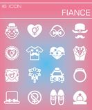 Vector Fiance icon set Stock Image