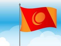 Vector ficticio de la bandera Foto de archivo libre de regalías