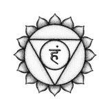 Hand drawn chakra Vishuddha illustration Stock Photography