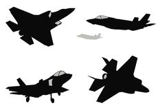 Vector fighters set Royalty Free Stock Photos
