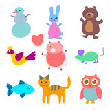Vector figures of animals Stock Photos