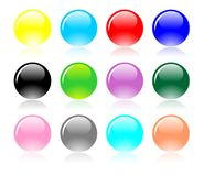 Vector fijado bolas coloridas Imagen de archivo libre de regalías