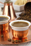 Vector fijado con el café griego o turco Foto de archivo libre de regalías
