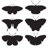 vector fijado con las mariposas Fotografía de archivo libre de regalías