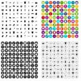 100 vector fijado de la cerveza iconos variable Imagen de archivo libre de regalías