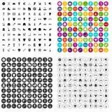 100 vector fijado de las actividades de los deportes iconos variable Foto de archivo libre de regalías