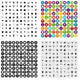 100 vector fijado de las compras del verano iconos variable Fotografía de archivo