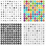 100 vector fijado de las zapatillas de deporte iconos variable Imagen de archivo libre de regalías