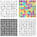 100 vector fijado del agua iconos variable Imagen de archivo