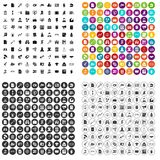 100 vector fijado del departamento jurídico iconos variable ilustración del vector