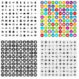 100 vector fijado del supermercado iconos variable Fotos de archivo libres de regalías