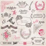 Vector fijado: Elementos caligráficos del diseño Fotos de archivo