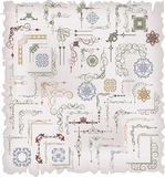 Vector fijado: elementos caligráficos del diseño Fotografía de archivo libre de regalías