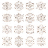 Vector fijado - elementos caligráficos del diseño Imagenes de archivo