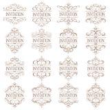 Vector fijado - elementos caligráficos del diseño Imagen de archivo libre de regalías