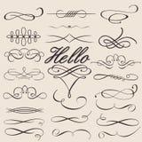 Vector fijado: Elementos caligráficos del diseño Fotos de archivo libres de regalías
