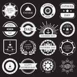 Vector fijado: etiquetas e iconos del día de padres del vintage Imagen de archivo libre de regalías