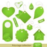 Vector fijado: etiquetas - ECO Imágenes de archivo libres de regalías