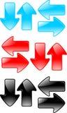 Vector fijado flechas Imágenes de archivo libres de regalías