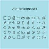 vector fijado iconos Imagen de archivo