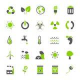 Vector fijado: Iconos de Eco Foto de archivo libre de regalías