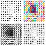 vector fijado iconos de los partidos de 100 niños variable stock de ilustración