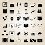 Vector fijado iconos del diseño web Imagenes de archivo