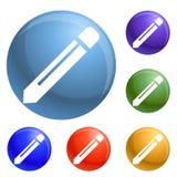 Vector fijado iconos del lápiz libre illustration
