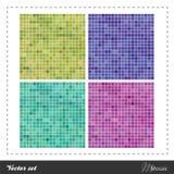 Vector fijado - mosaico stock de ilustración