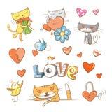 Vector fijado por día de tarjetas del día de San Valentín Foto de archivo libre de regalías