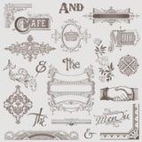 Vector fijado: Varios elementos retros del diseño Imagen de archivo