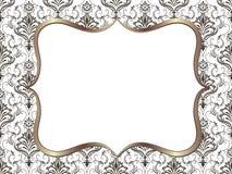 Vector fijn bloemen vierkant kader Decoratief element voor uitnodigingen en kaarten Stock Foto