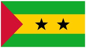 Sao Tome and Principe flag. Vector file of African country Sao Tome and Principe flag Stock Image