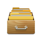 Vector File Cabinet with Documents Stock Photos