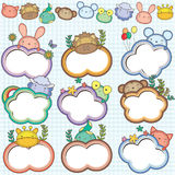 Animal Cloud Frames Set 1 Stock Image