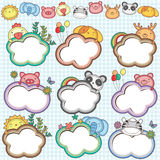 Animal Cloud Frames Set 2 Royalty Free Stock Images