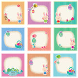 Sweet and cute easter cards Royalty Free Stock Image
