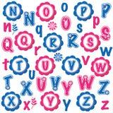 Fun alphabets clip art set (N-Z) Royalty Free Stock Photos