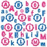 Fun alphabets clip art set (A-M) Stock Photos
