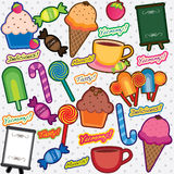 Funky dessert mix clip art Royalty Free Stock Image