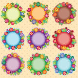 Funky Floral Frames Royalty Free Stock Photography