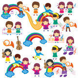 Happy Music Kids Stock Photos