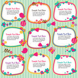 Spring floral frames set Stock Images